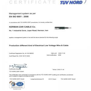 ISO 9001 Standad TUV Nord