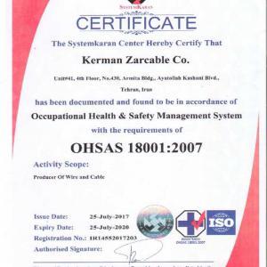 OHSAS 18001 Standard